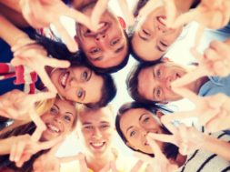 summer, holidays, vacation, happy people concept – group of teen