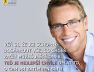 Young handsome man with great smile wearing fashion eyeglasses a