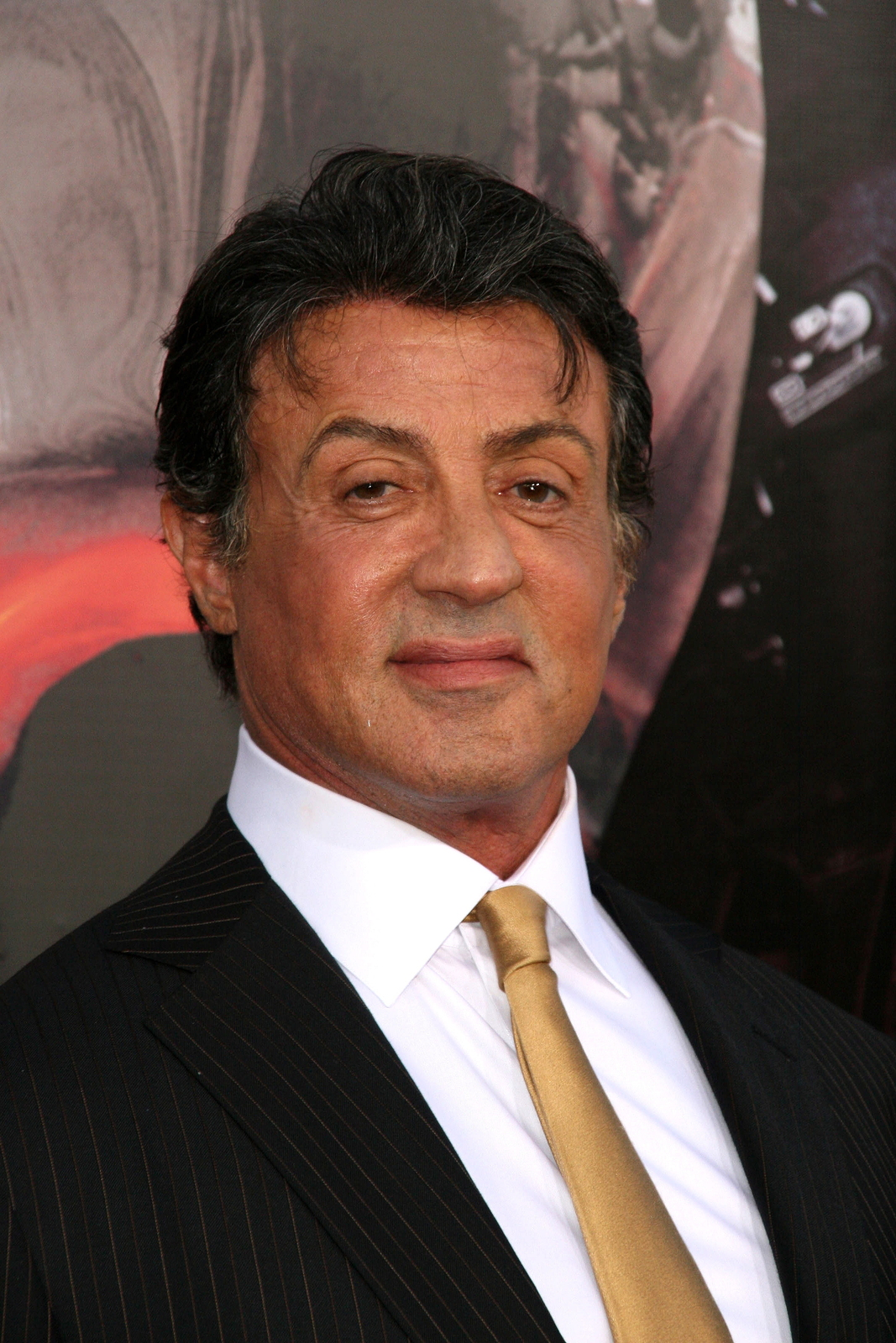 "Sylvester Stallone at the ""The Expendables"" Film Screening, Chin"